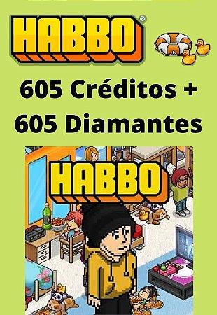Habbo Hotel - 605 Créditos + 605 Diamantes