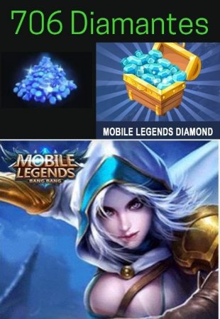 Diamantes Mobile Legends - 706 Diamond