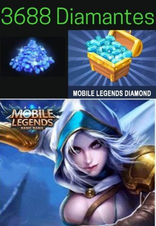 Diamantes Mobile Legends - 3688 Diamond