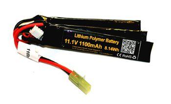 Bateria para Airsoft Lipo 3s 11,1v 1100mah 20 a 40c Parabellum