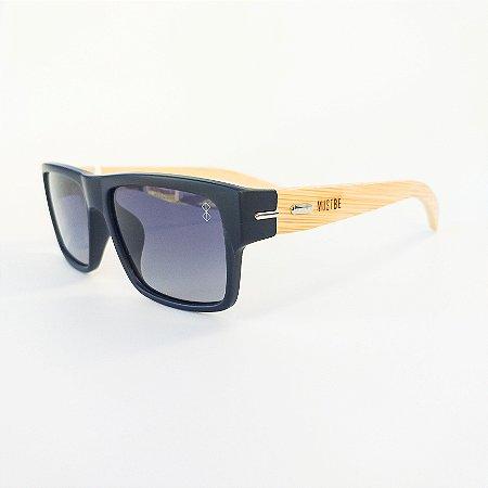 Óculos De Sol Mustbe Madeira Azul Marinho