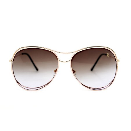 Óculos de Sol MustBe Curves Gold&Tan Slim