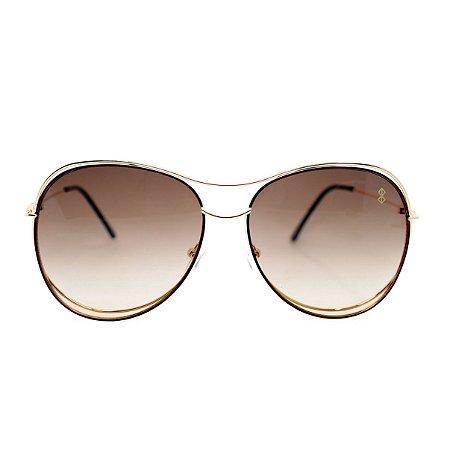 Óculos de Sol MustBe Curves Gold&Fume Slim