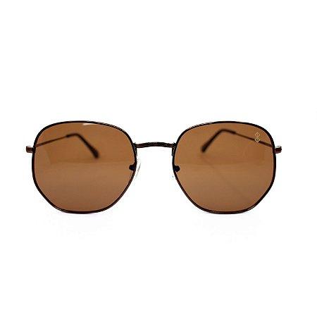 Óculos de Sol MustBe Hexxa Brown Slim