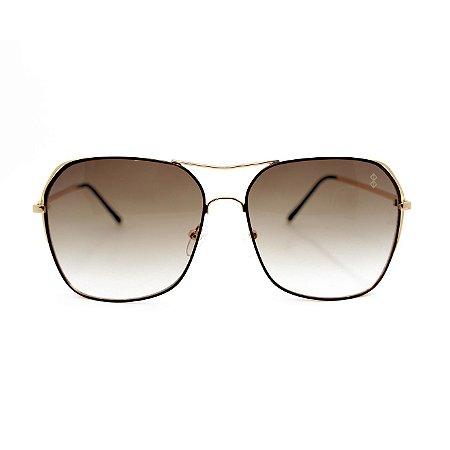 Óculos de Sol MustBe Angle Gold&Tan Slim