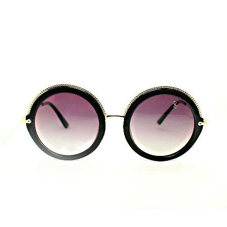 Óculos de Sol Mustbe Gretta BlacK&Gold