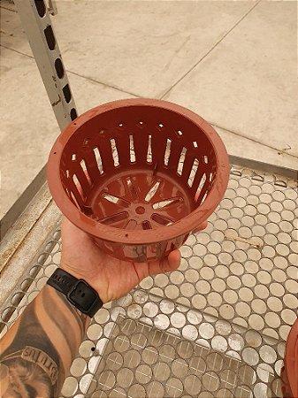 Vaso Importado Vazado Sofisticado Marrom - Tamanho 16