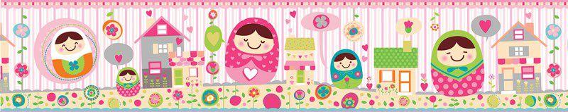 Faixa Infantil Casinhas e Boneca