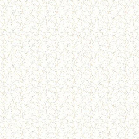 Papel de Parede Infantário Arabesco Fundo Branco Bobinex Infantário 1731
