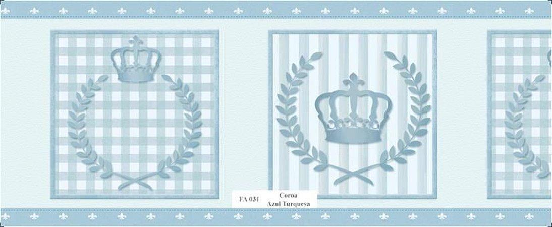 Faixa de Parede Principe Azul Turquesa