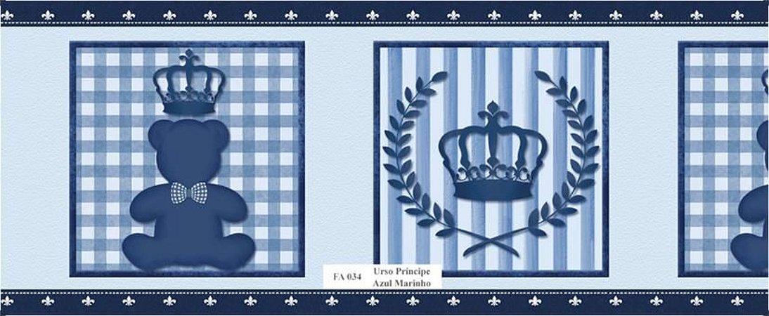 Faixa de Parede Urso Principe Azul Marinho