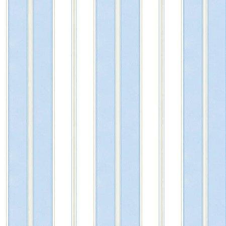 Papel de Parede Azul Claro, Branco e Bege