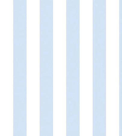 Papel Listrado Azul Claro e Branco
