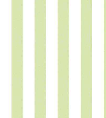 Papel Listrado Verde Água e Branco