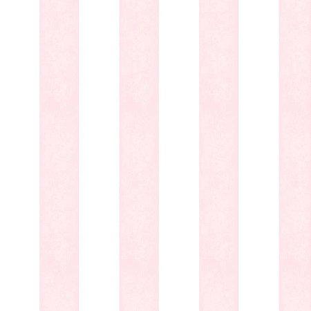 Papel Listrado Rosa e Branco