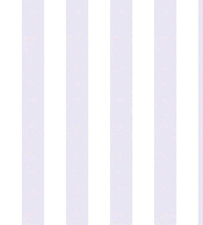 Papel Listrado Branco e Lilás