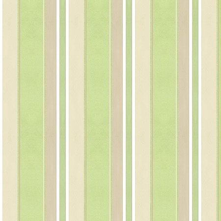 Papel listrado Verde, Marron e Bege