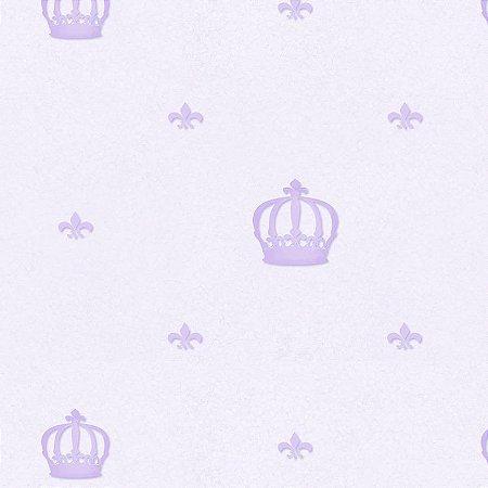 Papel de Parede Coroa Lilás