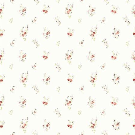 Papel de Parede Floral Vermelho Bobinex Bambinos 3347