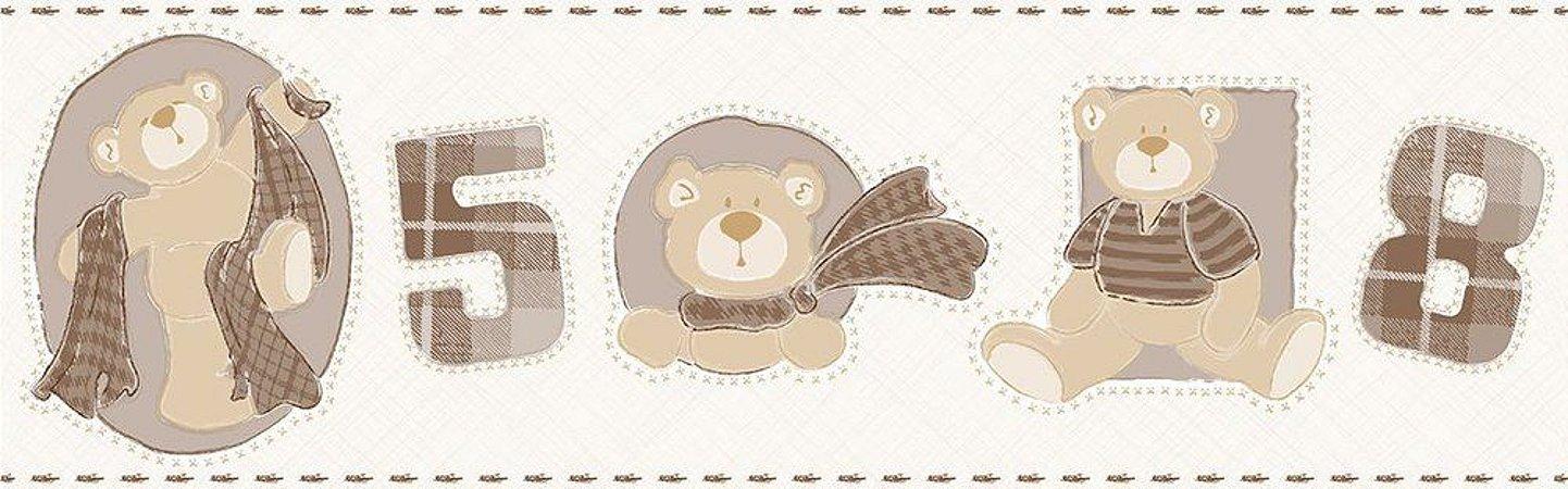 Faixa de Parede Ursos Bege Bobinex Bambinos 3210