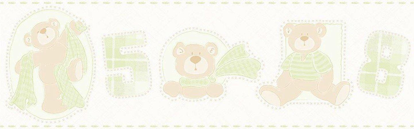 Faixa de Parede Ursos Verde Bobinex Bambinos 3209