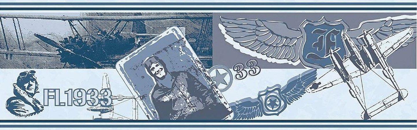 Faixa de Parede Aviador Azul Bobinex Bambinos 3205