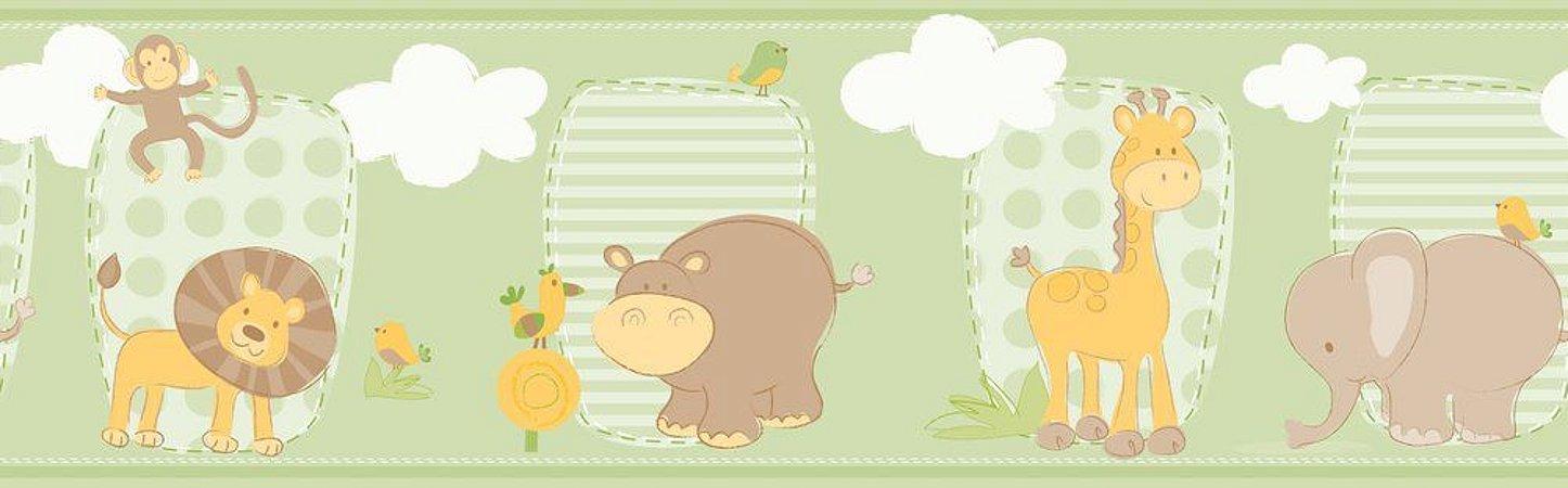 Faixa de Parede Safari Verde Bobinex Bambinos 3201