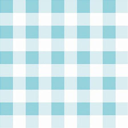 Papel de parede infantil xadrez azul claro estilocor - Papel para pared infantil ...
