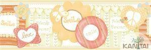 Faixa Infantil Smile Coloridos Vinílico Lavável BB221301B
