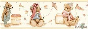 Faixa Infantil Vinílico Lavável Urso Bege BB220705B