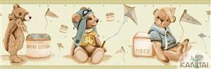 Faixa Infantil Vinílico Lavável Urso Verde  BB220704B