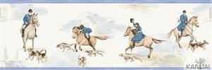 Faixa Infantil Vinílico Lavável Cavalo Azul BB220101B