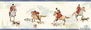 Faixa Infantil Vinílico Lavável Cavalo Azul BB220102B