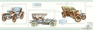Faixa Infantil Vinílico Lavável Carro antigo -  Verde BB220002B