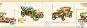 Faixa Infantil Vinílico Lavável Carro antigo -  VBege B220001B