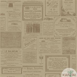Papel de Parede Infantil Jornal Vinílico Lavável BB220204