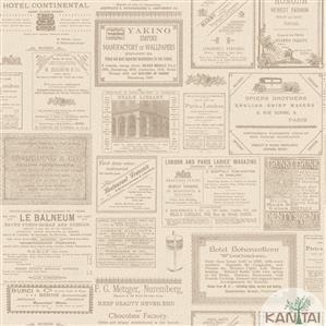 Papel de Parede Infantil Jornal Vinílico Lavável BB220202