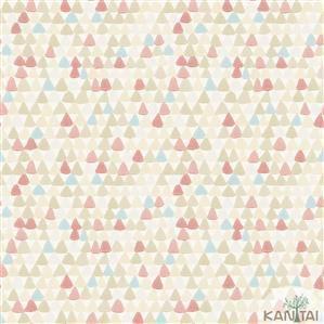 Papel de Parede Infantil Triângulo Vinílico Lavável - Várias Cores