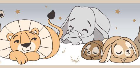 Faixa Treboli Animais Dormindo Cinza