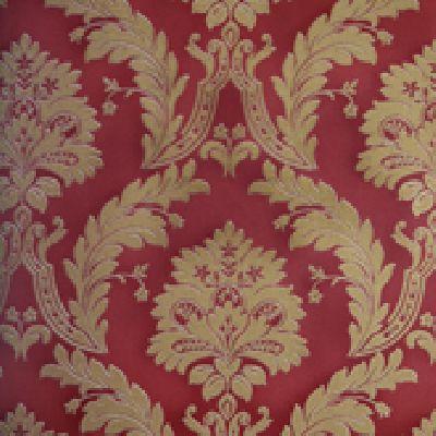 Papel de Parede Vinílico Lavável Colonial Ouro Velho Claro, Vermelho