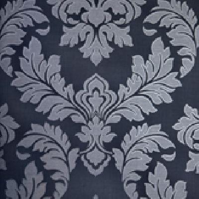 Papel de Parede Vinílico Lavável Colonial Azul Acinzentado, Azul Escuro
