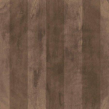 Papel de Parede Cimento Queimado Marrom Listrado Bobinex Natural 1432 Vinílico Lavável
