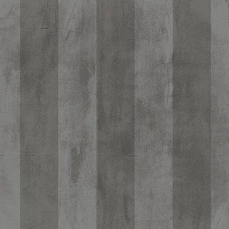 Papel de Parede Cimento Queimado Cinza Escuro Listrado Bobinex Natural 1434 Vinílico Lavável