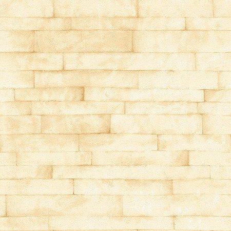 Papel de Parede Canjiquinha Bege Bobinex Natural 1417 Vinílico Lavável