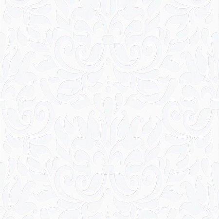 Papel de Parede Arabesco Branco Bobinex Relevos 3405