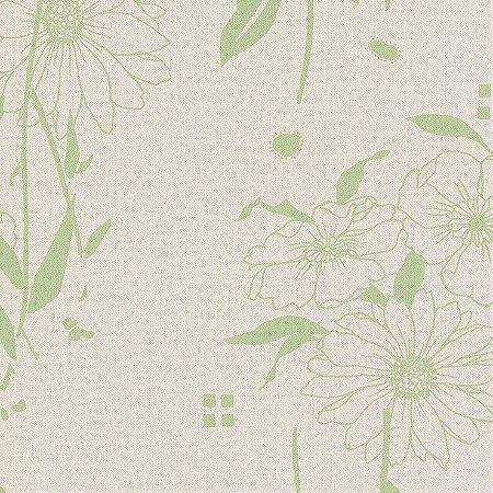 Papel de Parede Floral Verde Bobinex Harmonia 9124 Vinílico Lavável