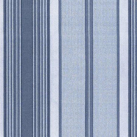 Papel de Parede Listras Azul Jeans Bobinex Classique 2832