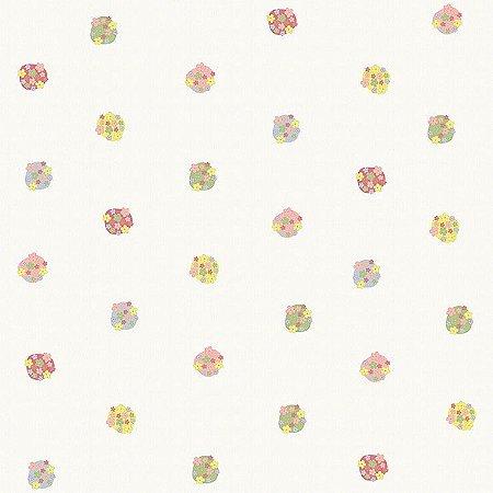 Papel de Parede Infantário Bonecas Com Flores Bobinex Infantário 1724