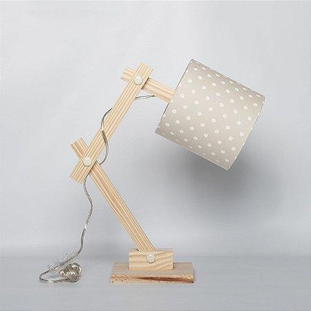 Luminária Articulada Poá Bege