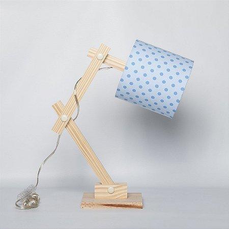 Luminária Articulada Poá Azul